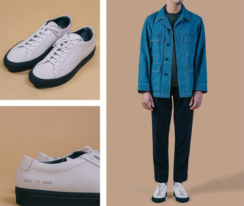 white sneaker _ รองเท้า sneaker สีขาว _ common projects