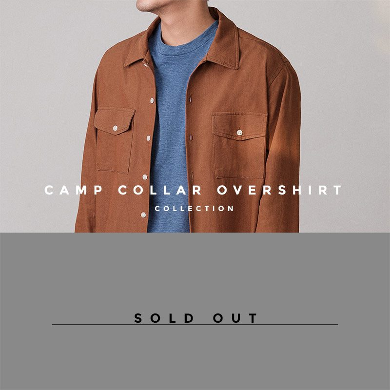 Camp Collar Overshirt - thecrucialthings lookbook - Sold Out