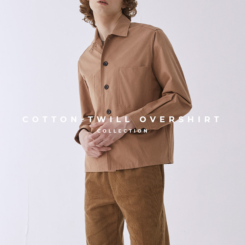 Two Pockets Cotton Twill Overshirt - Lookbook Cover