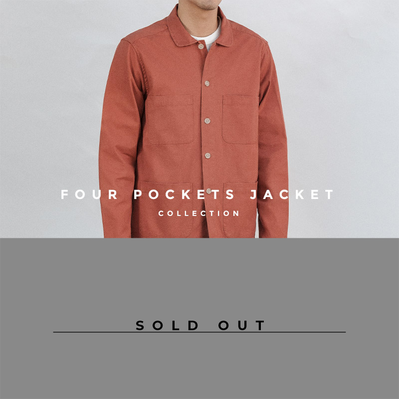 4-Pockets-Jacket-Cotton-Twill-Brick-Lookbook-Sold Out