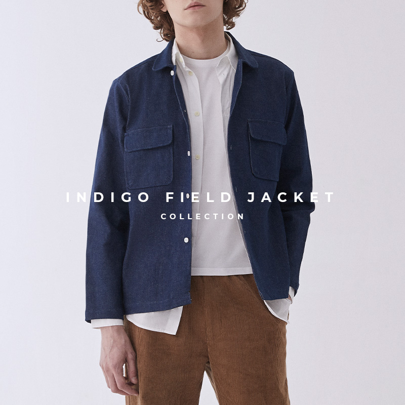Indigo Field Jacket Lookbook Page