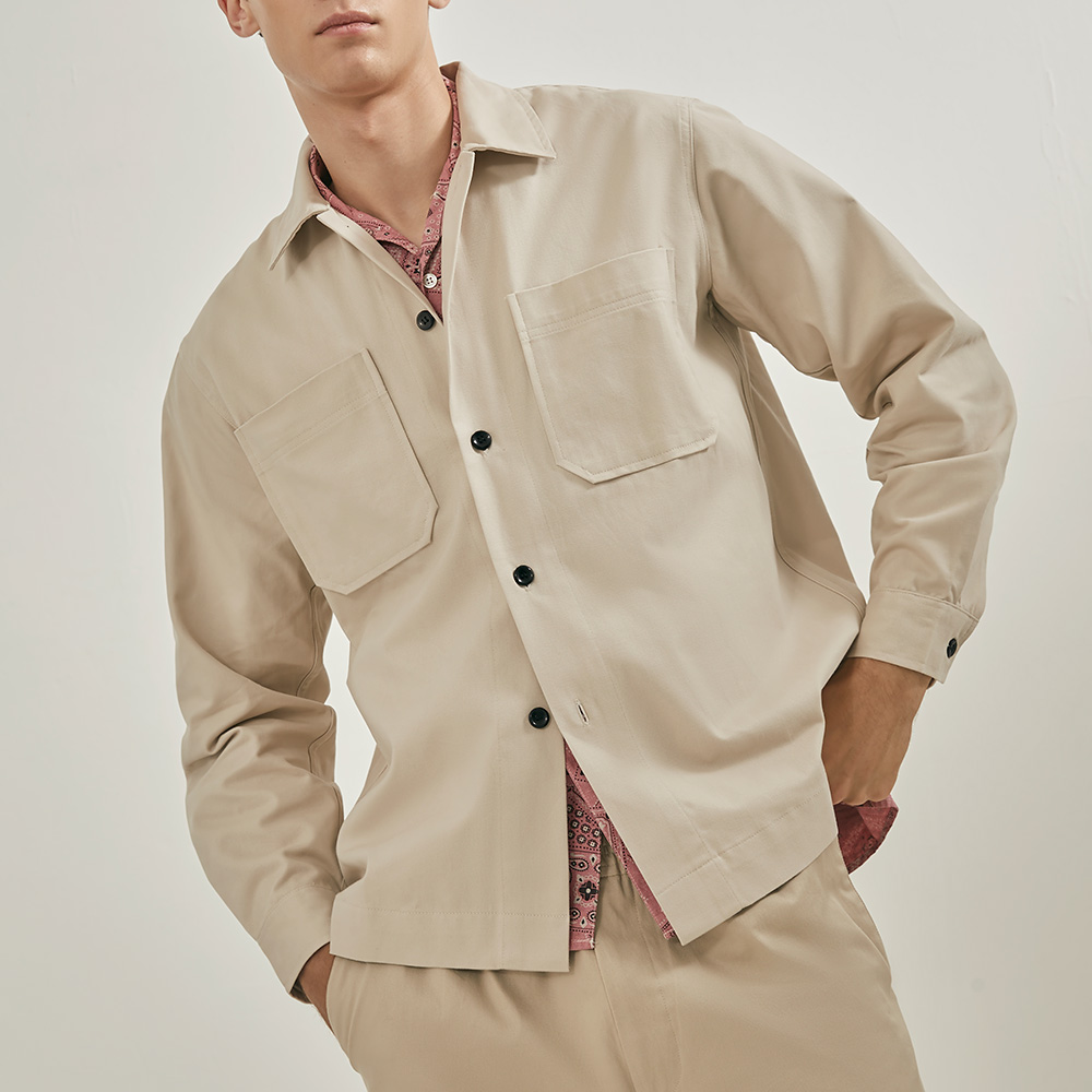 2 Pockets Cotton-Twill Shirt - Homepage