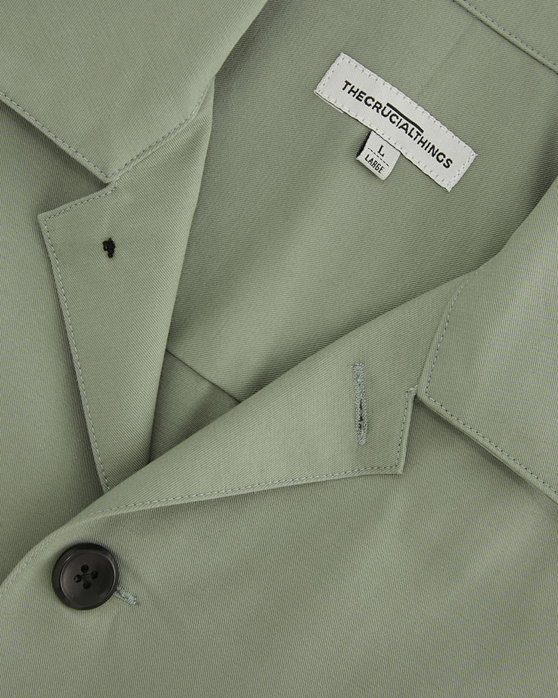 Chore jacket in mint green - close up