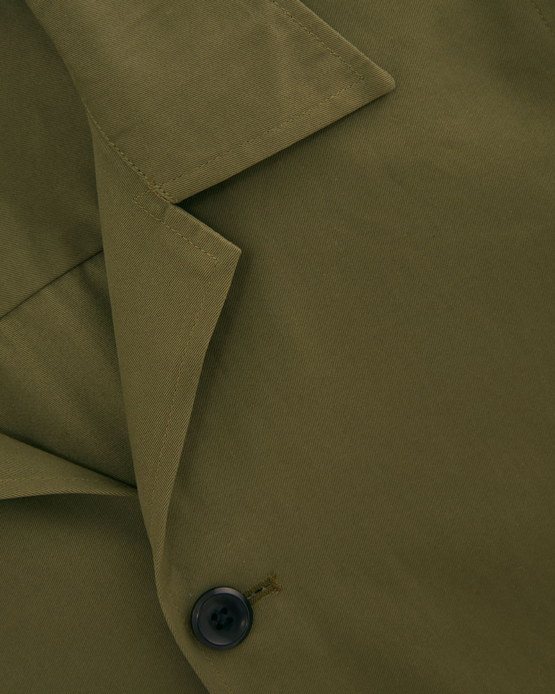 Camp Collar hip pockets jacket - fabric detail