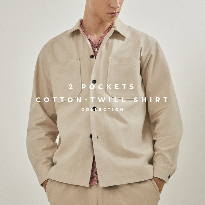 2 pockets cotton-twill shirt - lookbook page cover
