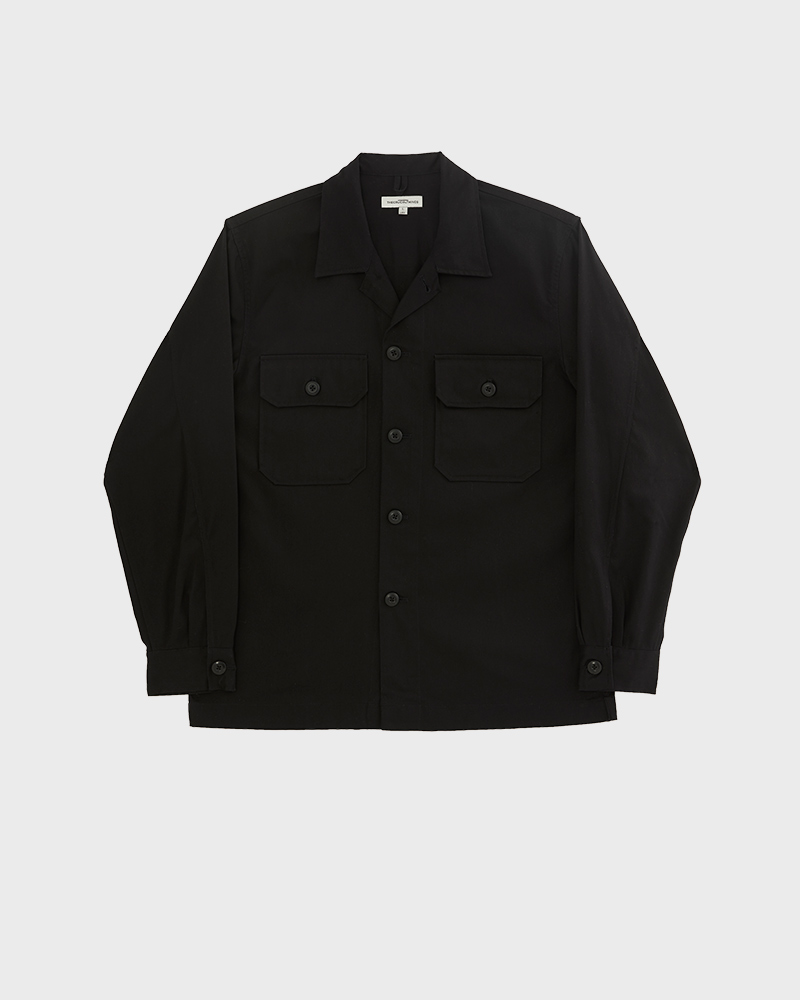 CPO Cotton-Twill Overshirt in Black Color - Pack Shot