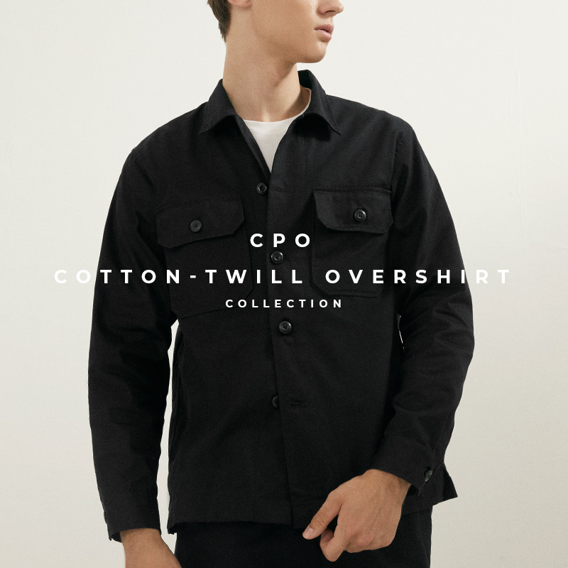 CPO Cotton-Twill Overshirt - Lookbook Banner