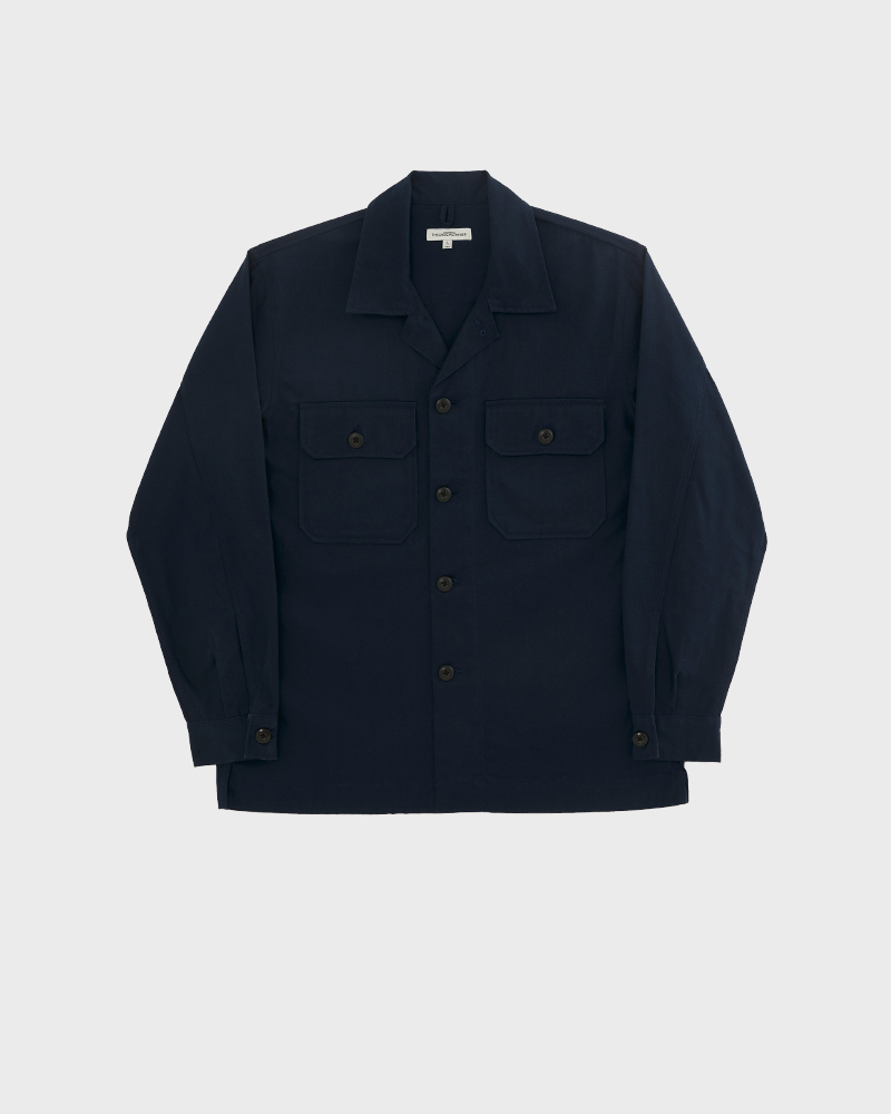 CPO Cotton-Twill Overshirt in Navy Color - Pack Shot