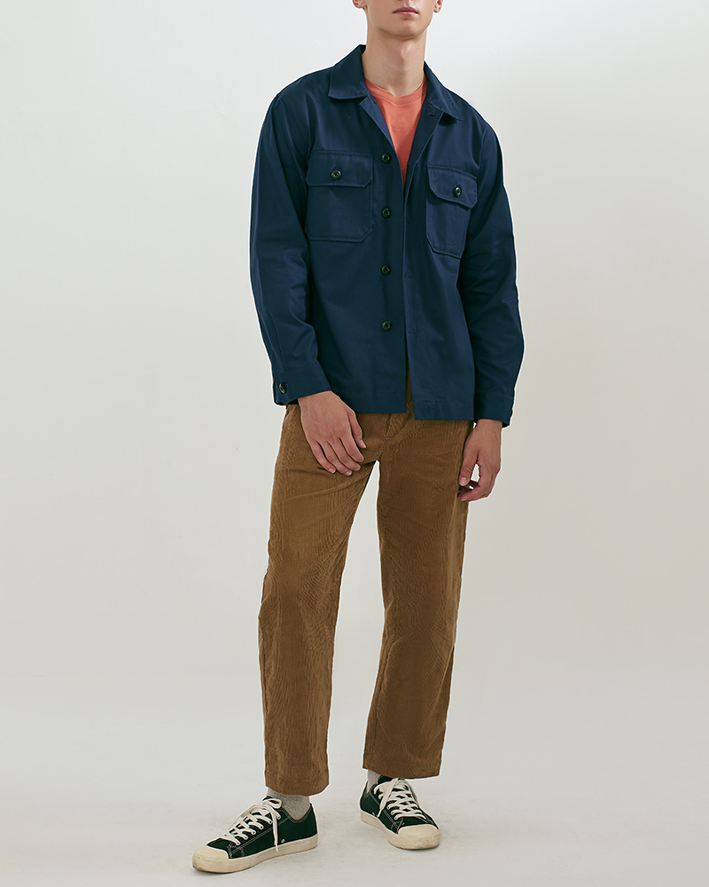 CPO Cotton-Twill Overshirt in Navy Color