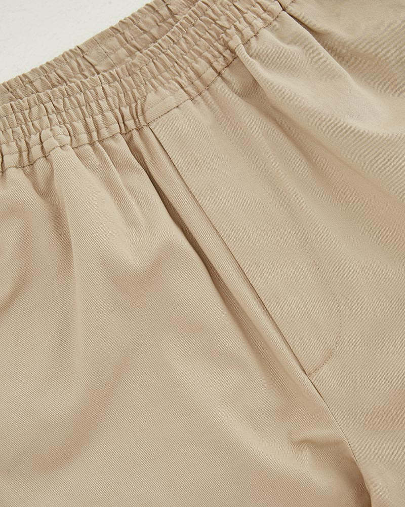 Elasticated Cotton-Twill Trouser in Beige - Details