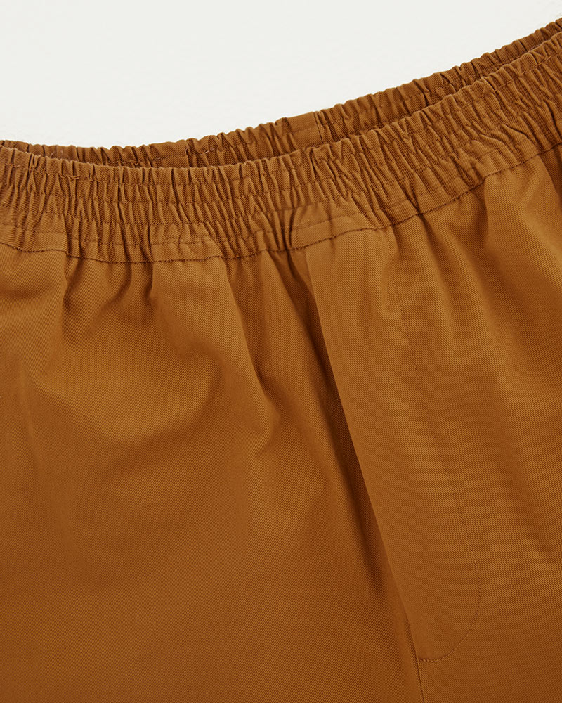 Elasticated Cotton-Twill Trouser in Mustard - Details