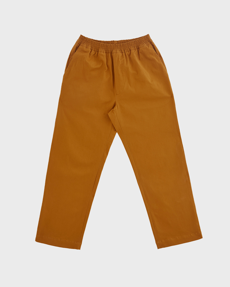 Elasticated Cotton-Twill Trouser in Mustard - Pack Shot