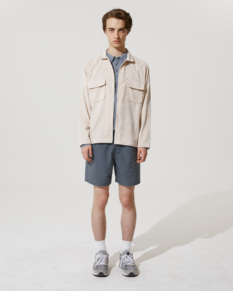 Corduroy Field Jacket in White - Front Image