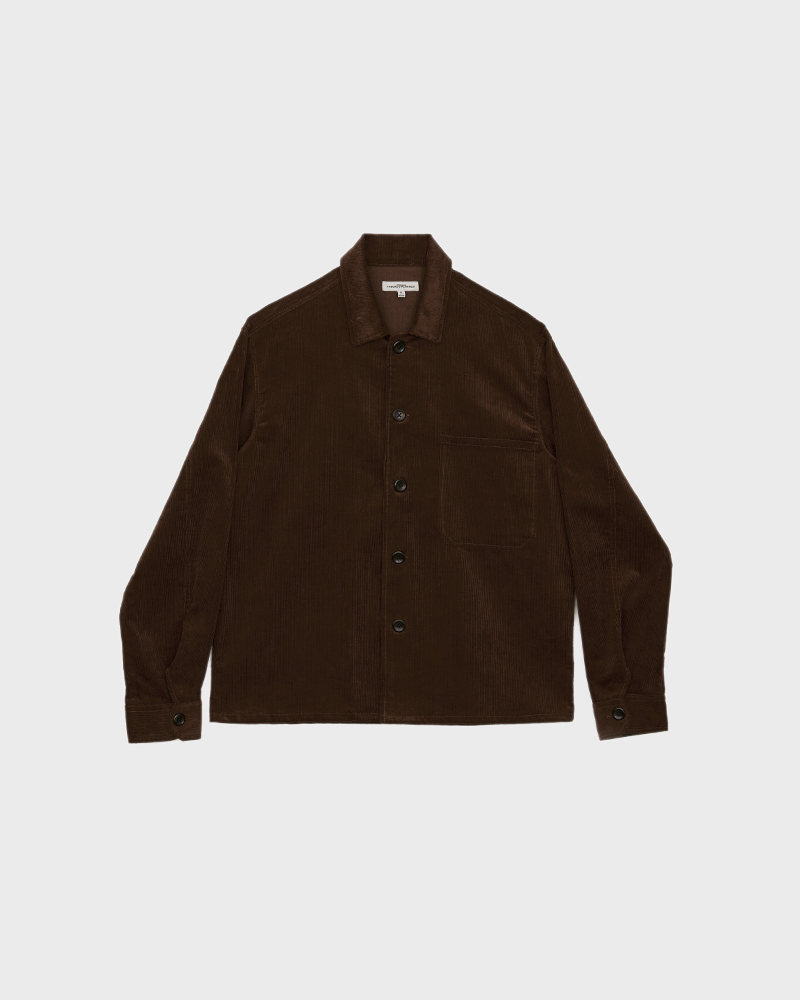 Corduroy Overshirt in Brown - Pack Shot