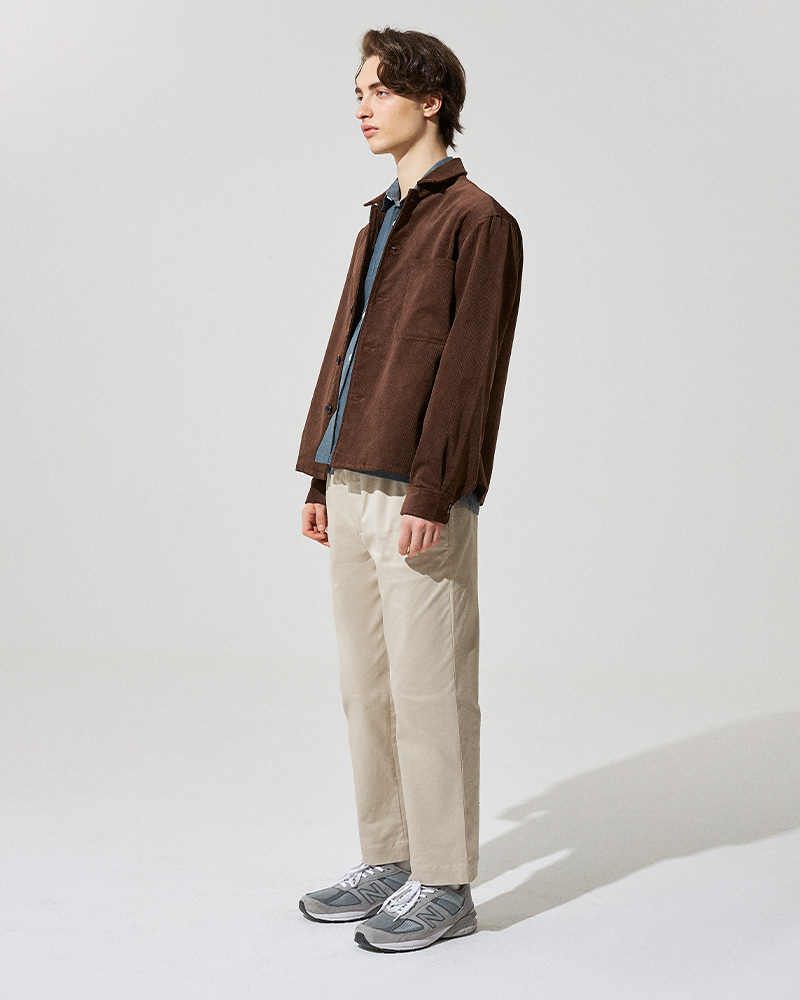 Corduroy Overshirt in Brown - Side Image