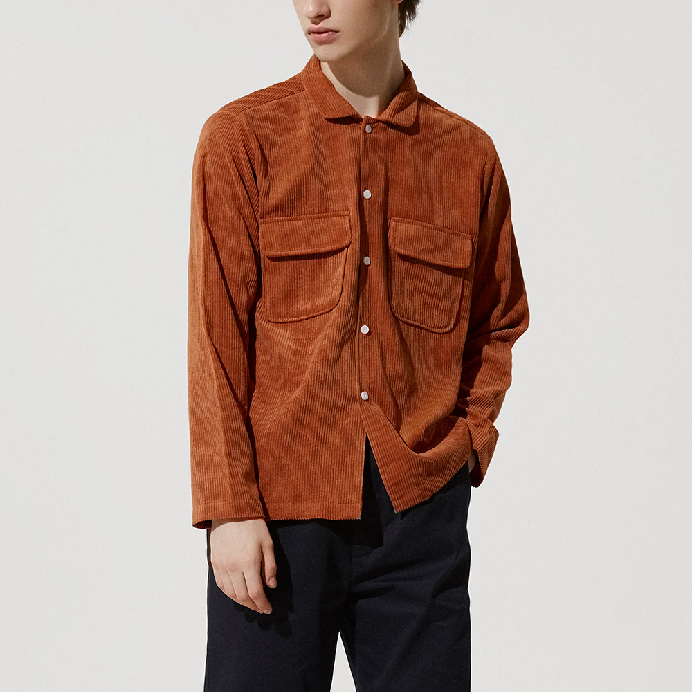 Corduroy Field Jacket in Brick Orange - Homepage Banner