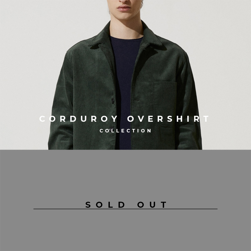 Corduroy Overshirt in Green - Lookbook Sold Out Cover