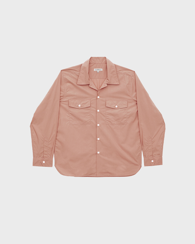 Camp-Collar Overshirt in Pink - Pack Shot
