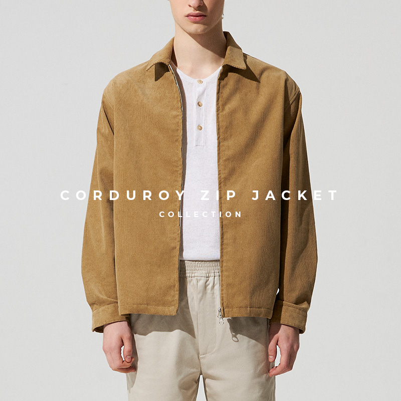 Corduroy Zip Jacket Lookbook Banner