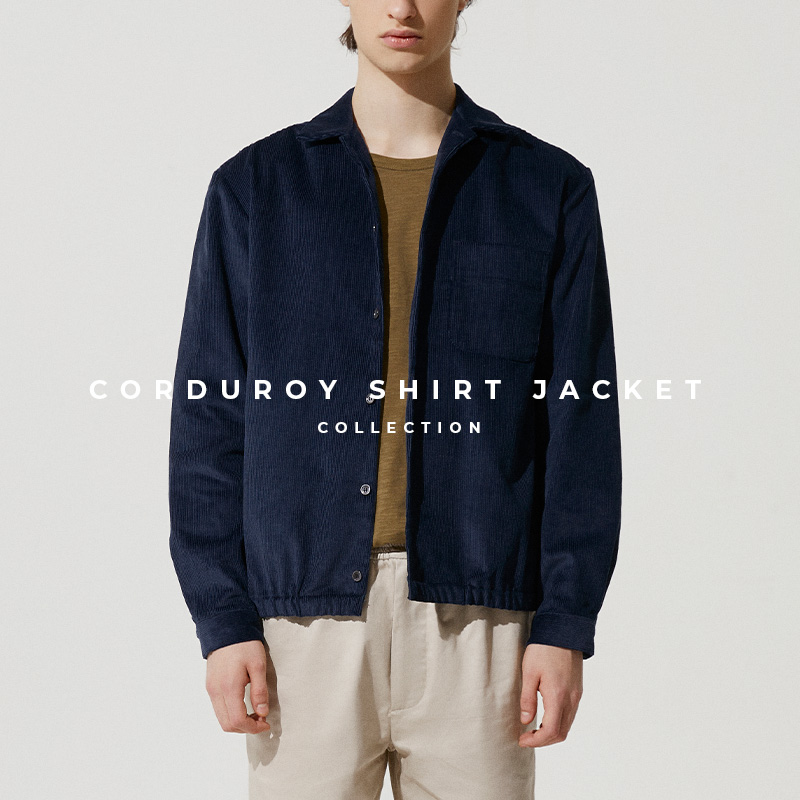 Corduroy Shirt Jacket Lookbook Cover