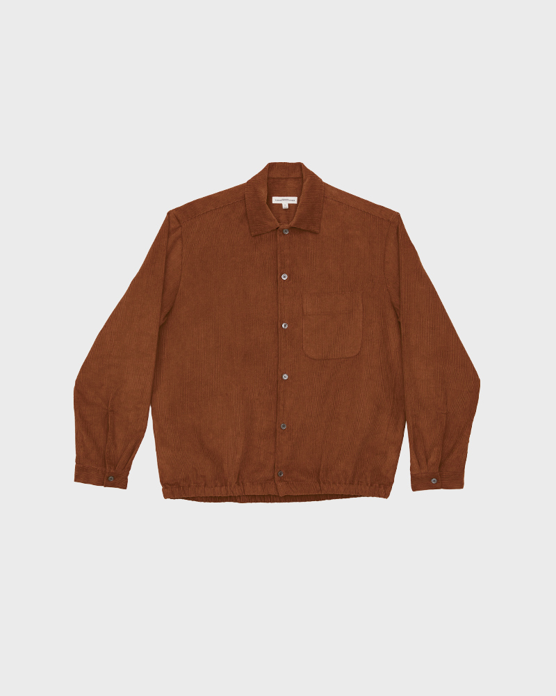 Corduroy Shirt Jacket in Brick - Pack Shot