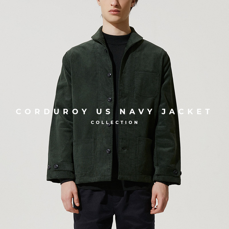 Corduroy US Navy Jacket - Lookbook Cover
