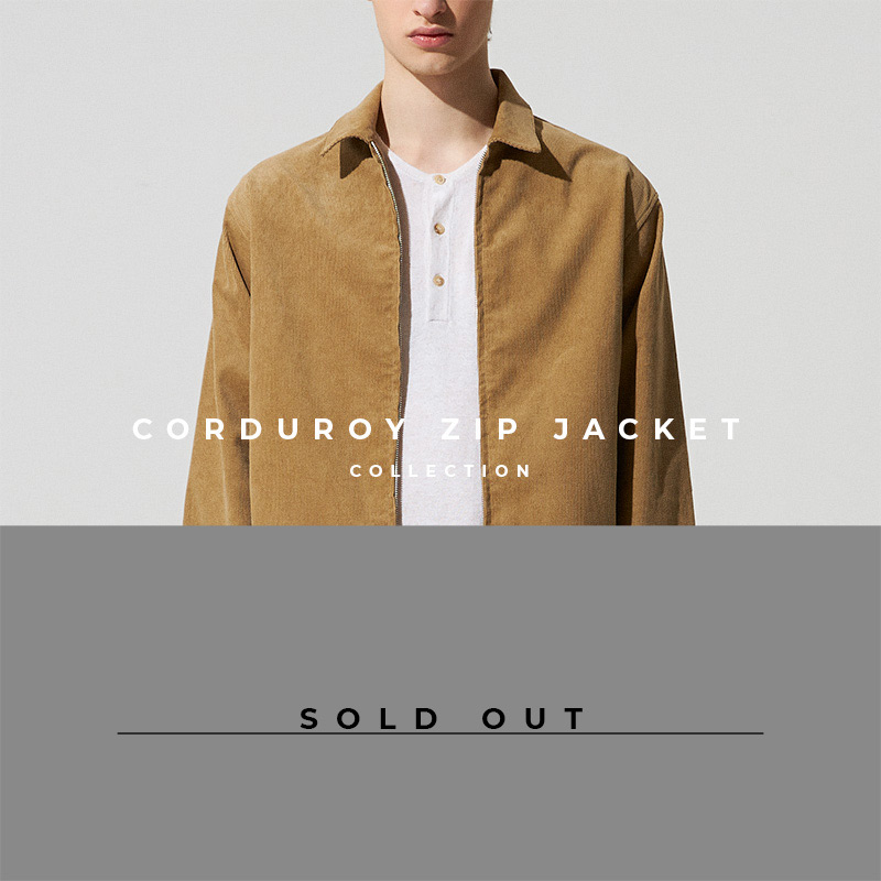 Corduroy Zip Jacket - Lookbook Cover - Sold Out