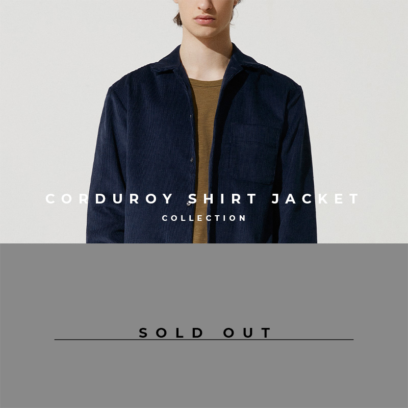 Corduroy Shirt Jacket - Lookbook Cover - Sold Out