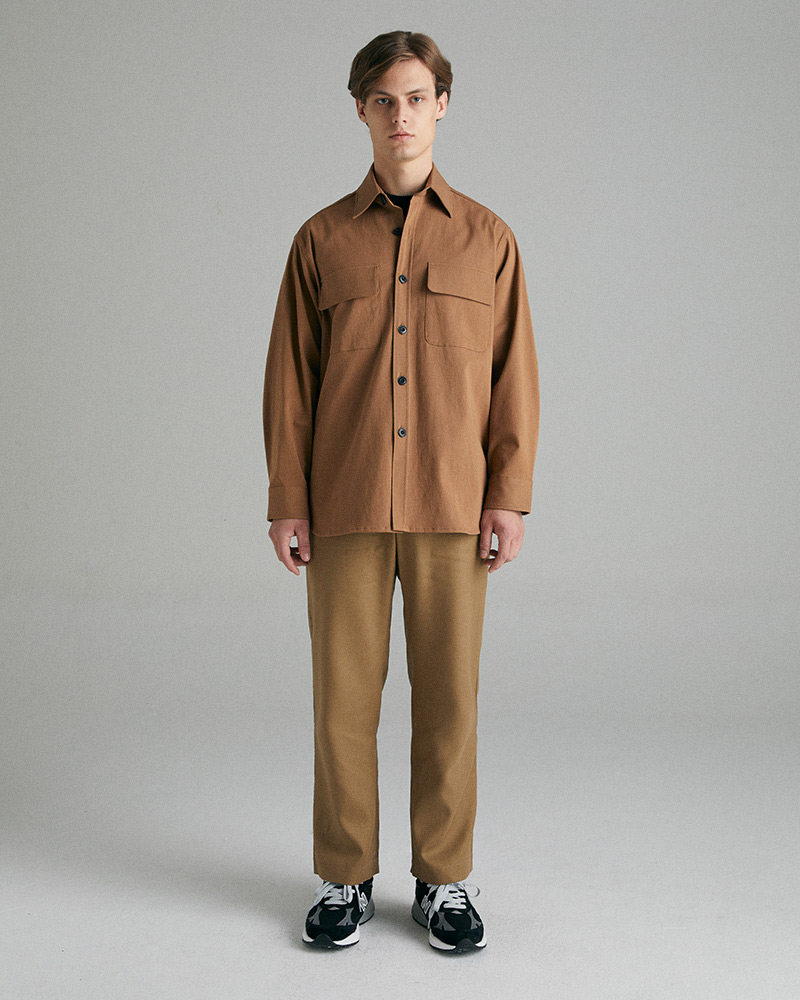 Big Field Jacket in Brown - Front Image